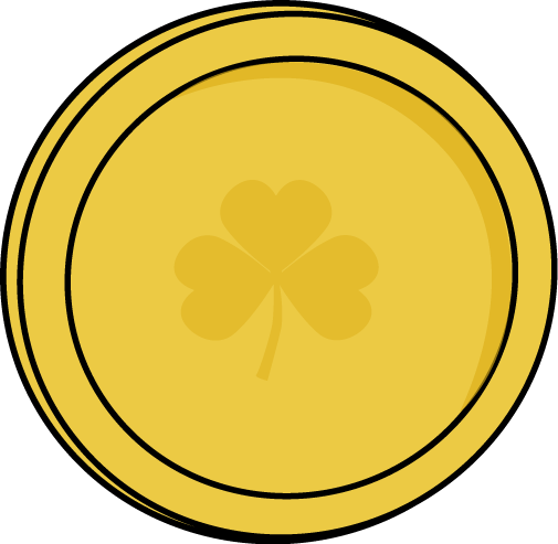 Single Gold Saint Patrick S Day Coin Clip Art Single Gold Saint