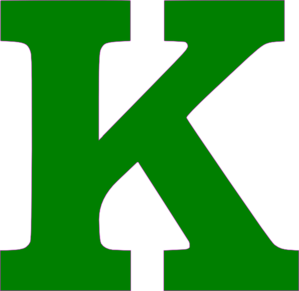 Single K Letter Green Clip Art At Clker Com Vector Clip Art Online