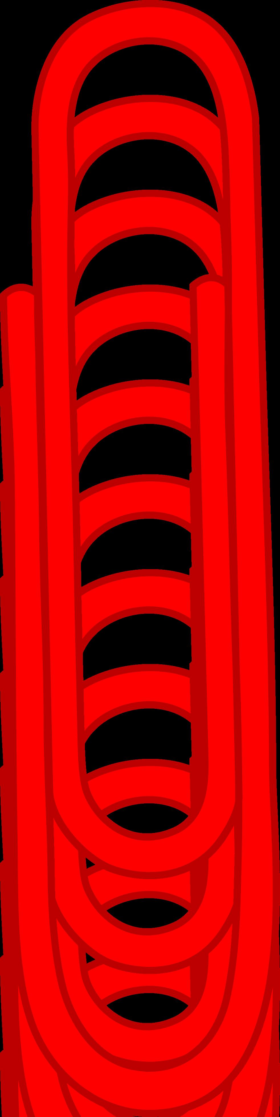 Single red paper clip free clip art