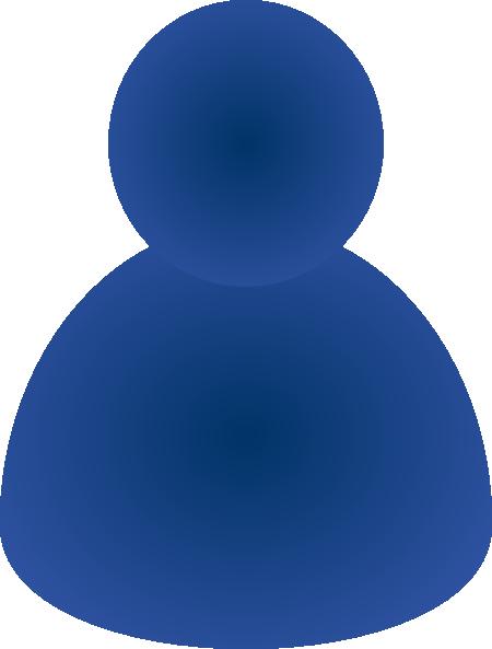 Single User Instant Messenger Icon clip art - vector clip art .