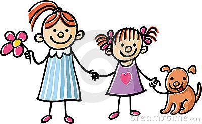 sister clipart. Girlfriends c