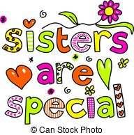 ... sisters are special - whi - Sisters Clip Art