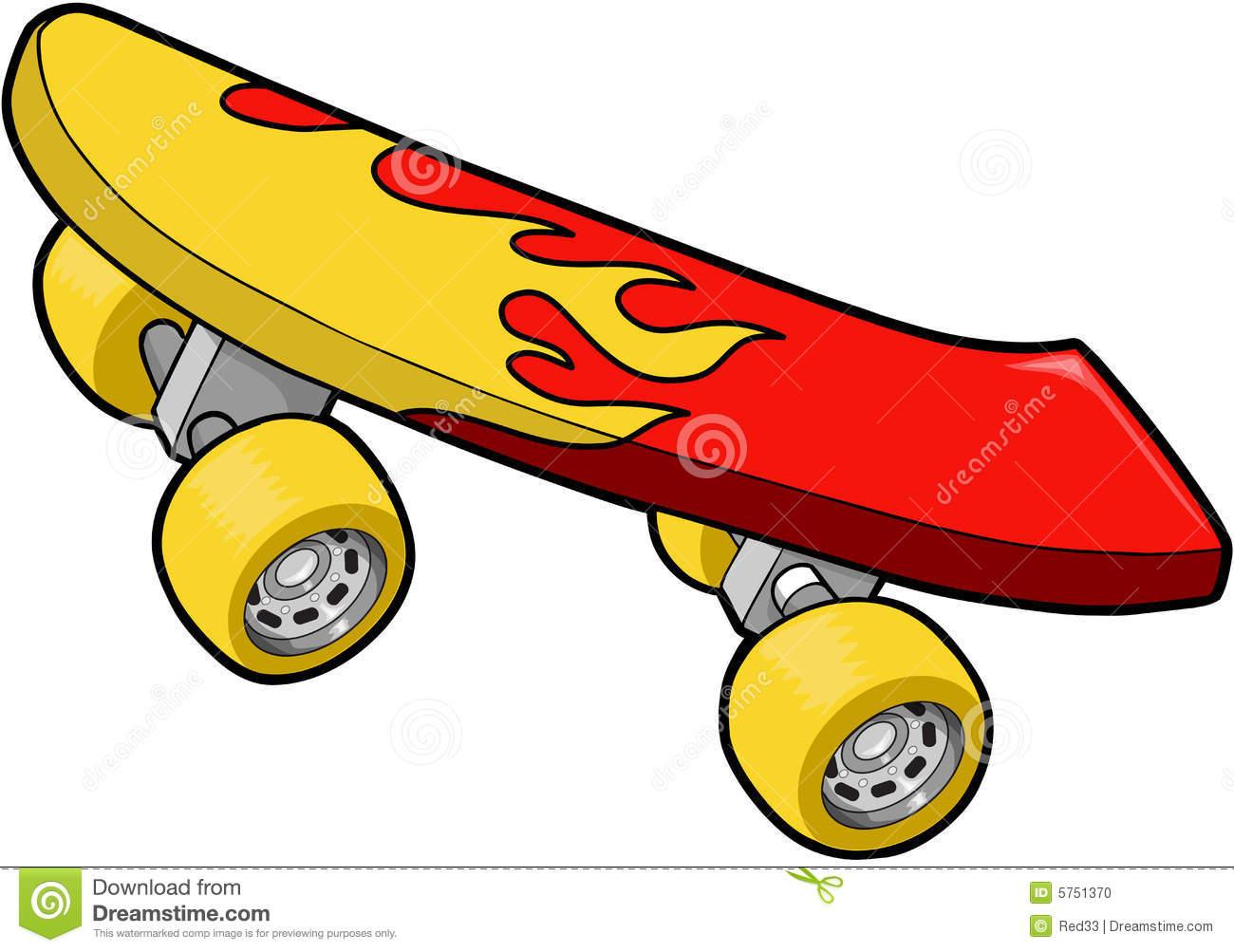 skateboard clipart