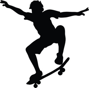 Skateboard Clipart Image Skateboarder Riding A Skateboard And Doing A