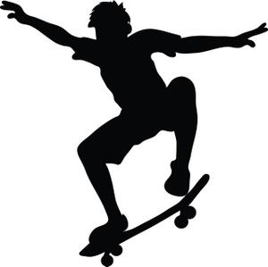 Skateboard Clipart Image Skateboarder Ri-Skateboard Clipart Image Skateboarder Riding A Skateboard And Doing A-10