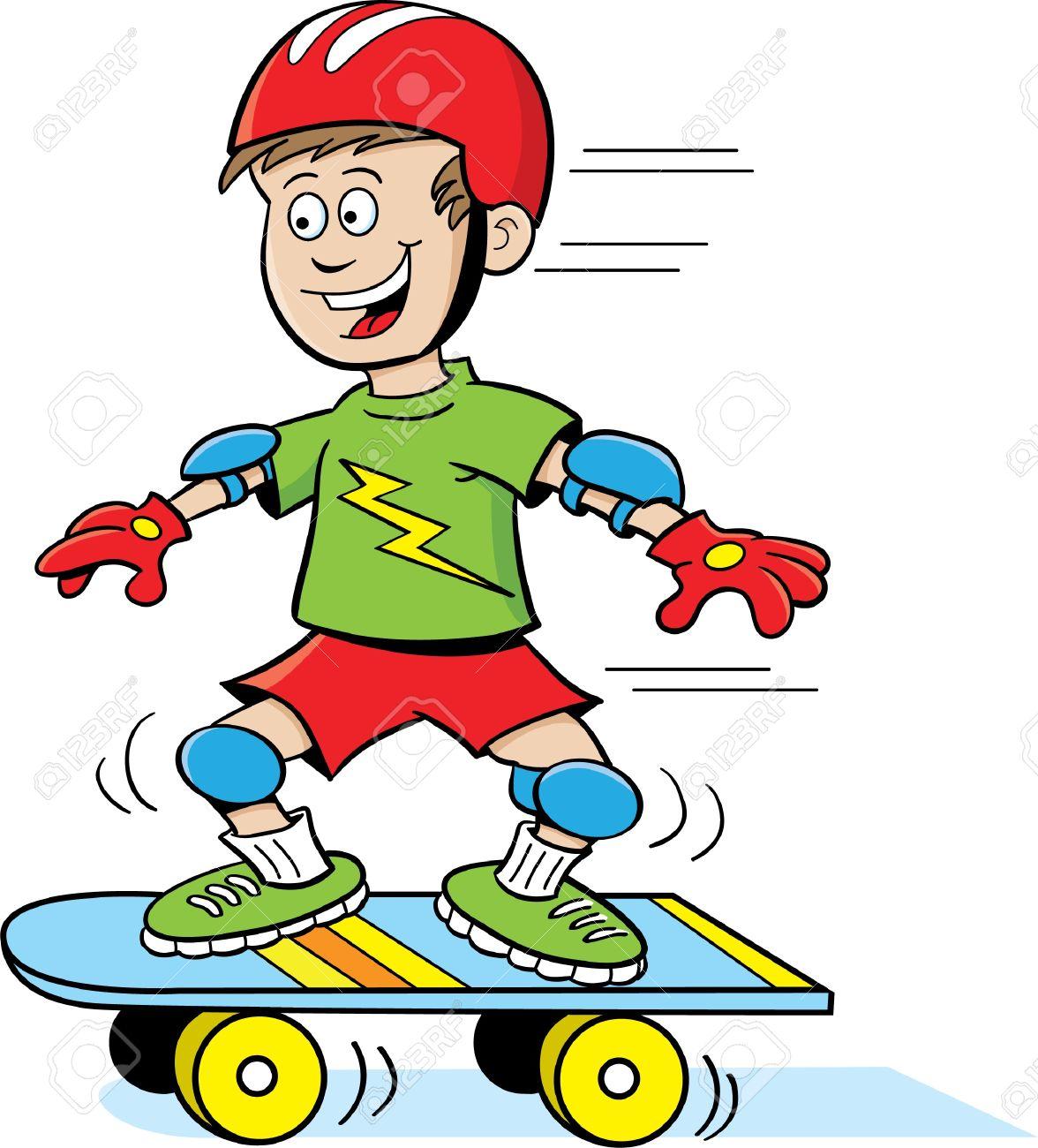 skateboard clipart 3