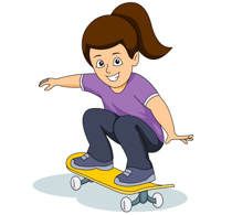 Young Male Riding Skateboarding Clipart Size: 79 Kb