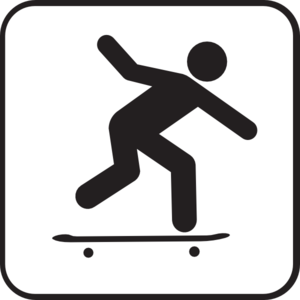 Skateboarding clip art free clipart images
