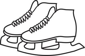 Skates Clip Art - Ice Skate Clipart