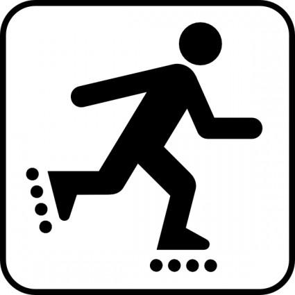 Skating Free Clip Art Roller .-Skating free clip art roller .-18