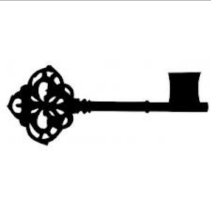 Skeleton Key Clip Art - .