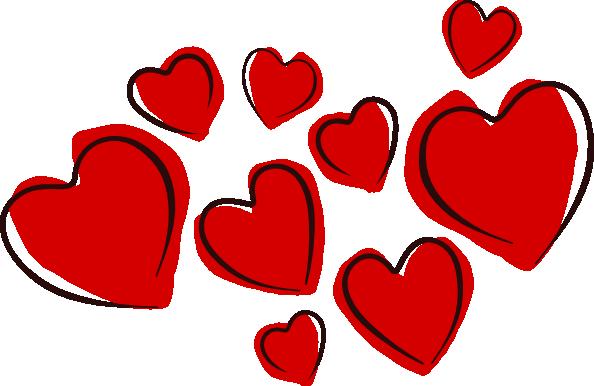 Sketchy Hearts clip art Free .