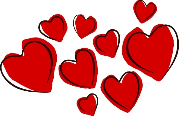 Sketchy Hearts Clip Art Free .-Sketchy Hearts clip art Free .-17