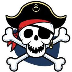 Skull and crossbones clip art ... Browse personalized Pirates .