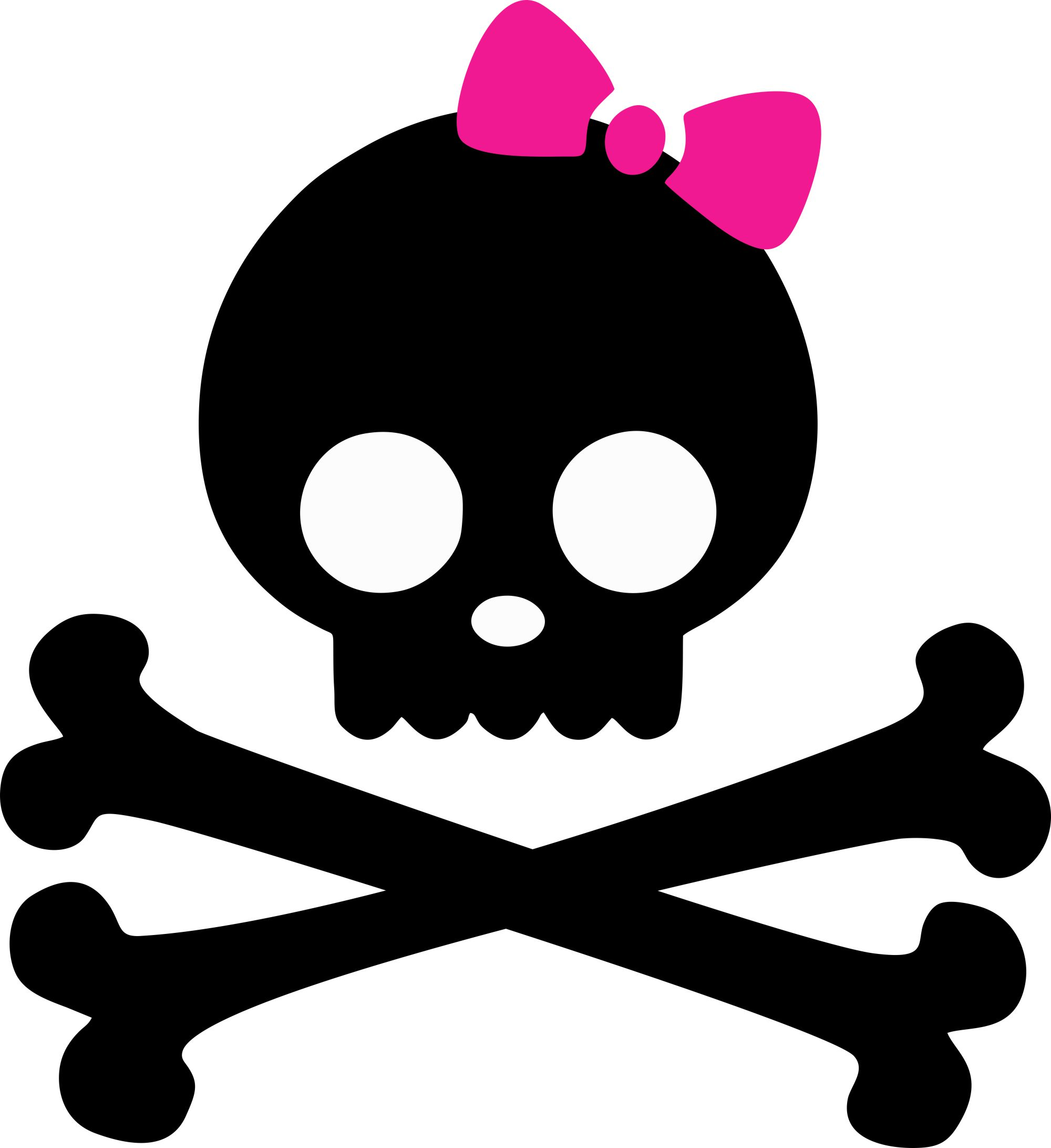 Skull And Crossbones Pink