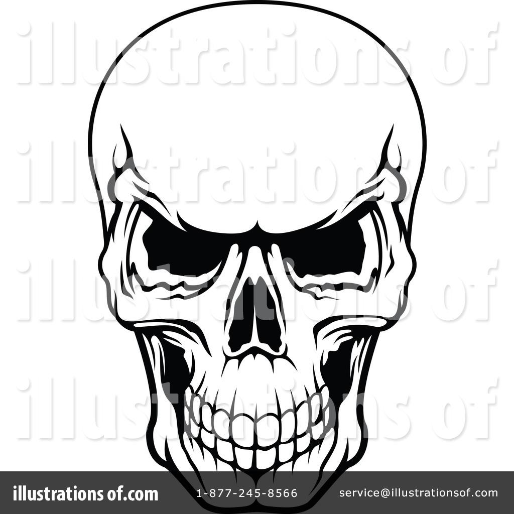 Skull Clipart Illustration .