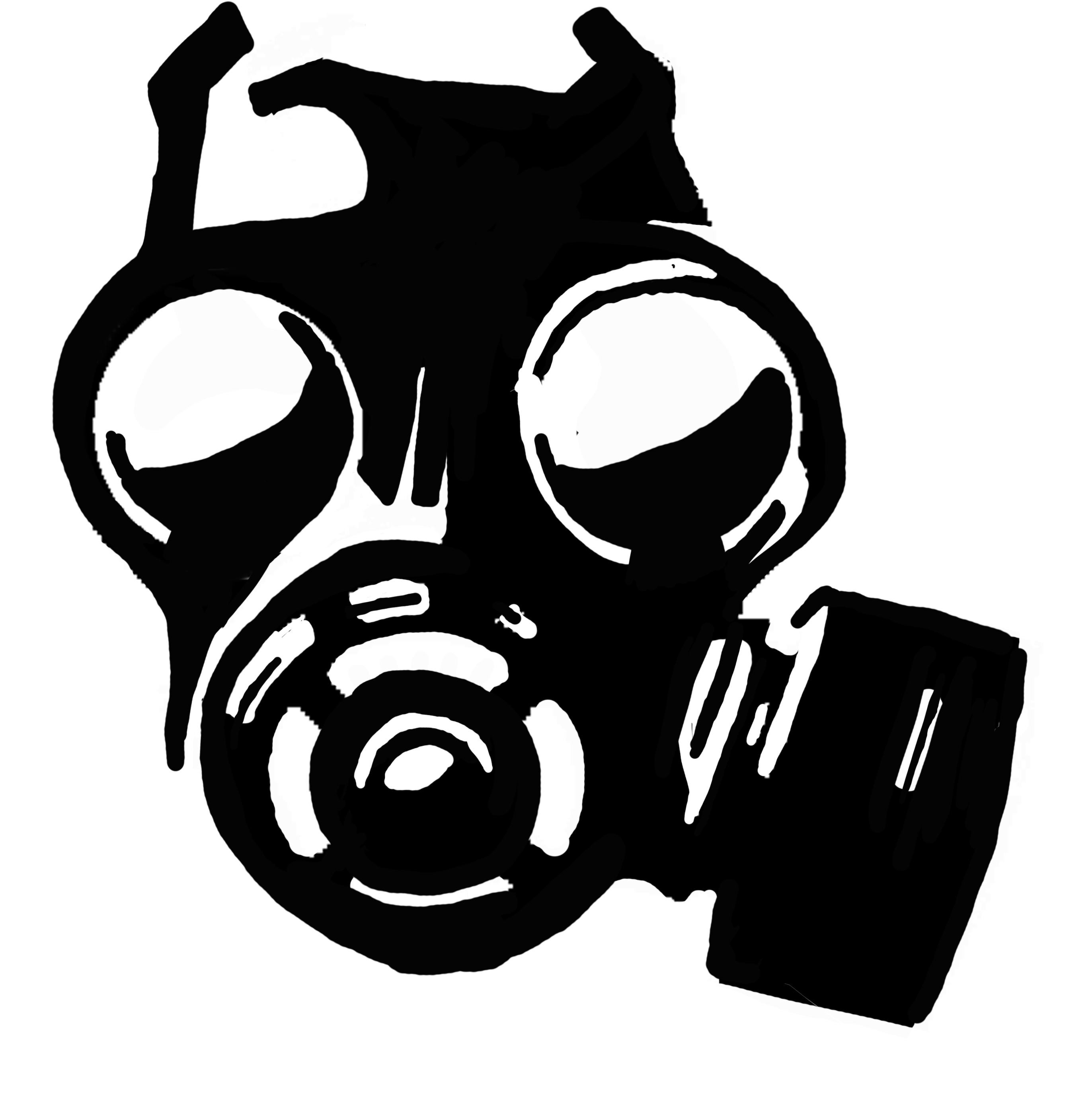 Skull Gas Mask - ClipArt Best