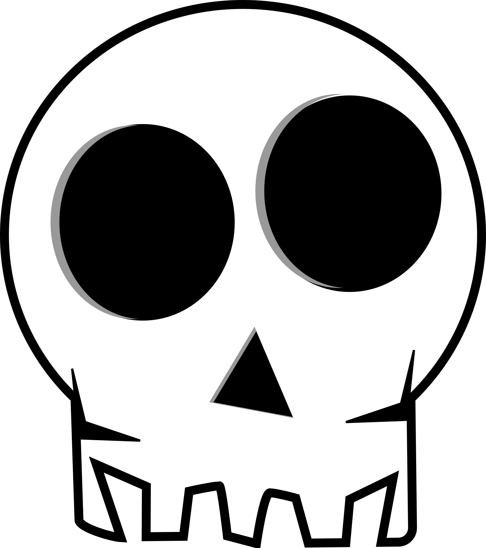 Skulls clip art dromffc top 2