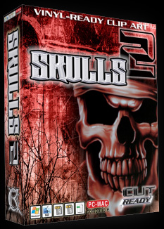 SKULLS VOL 2 CLIP ART FOR SIGN .