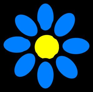 Sky Blue Flower Clip Art