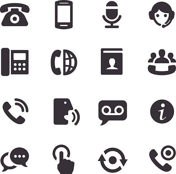 Telephone Icons - Acme Series vector art illustration