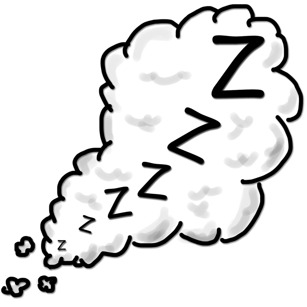 sleeping moon clipart
