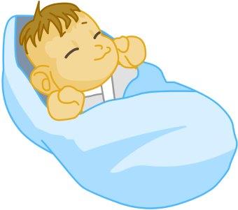 Sleeping Baby clip art - Sleeping Baby Clip Art