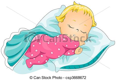 Sleeping Baby with Clipping P - Sleeping Baby Clip Art