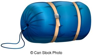 ... Sleeping Bag - Blue Sleeping Bag Wit-... Sleeping bag - Blue sleeping bag with leather strapped-11