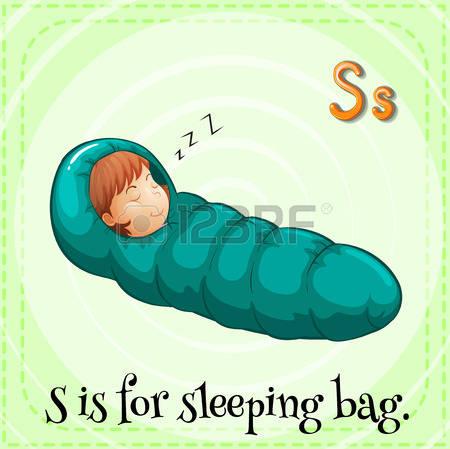 sleeping bag: Illustration of a letter s-sleeping bag: Illustration of a letter s is for sleeping bag-15