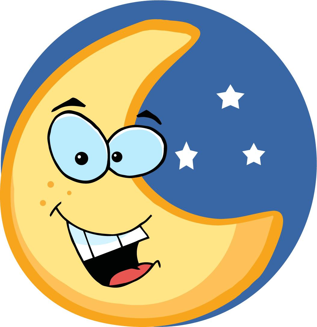 Sleeping Moon Clipart Clipart .