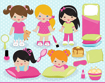 Sleepover Pajama Party Pictures Clip Art-Sleepover pajama party pictures clip art-15