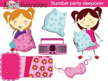 Sleepover Pink Girls Clipart Meylah375-Sleepover Pink Girls Clipart Meylah375-14