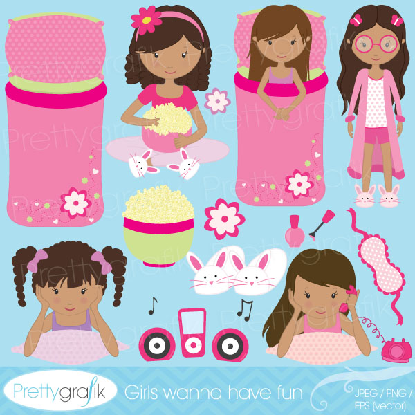 Sleepover Slumber Party Clipart Sleepover Slumber Party Clipart
