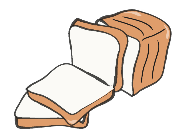Slice of bread clipart black and white free