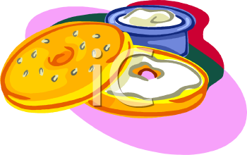 Sliced Bagel With Cream Cheese Clipart I-Sliced Bagel With Cream Cheese Clipart Image Foodclipart Com-18