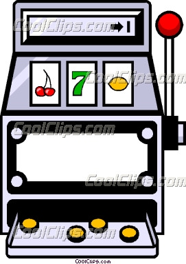Slot machine clip art ClipartFest