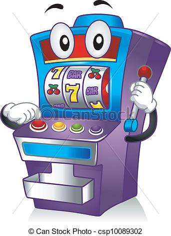 ... Slot Machine Mascot - Mascot Illustration Featuring a Slot.