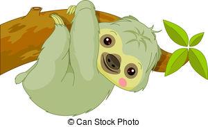 Sloth - Fun Zoo. Illustration Of Cute Sl-Sloth - Fun zoo. Illustration of cute Sloth-17