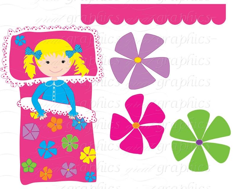 Slumber Party Clip Art Pajama Party Digi-Slumber Party Clip Art Pajama Party Digital Clip Art Printable-14