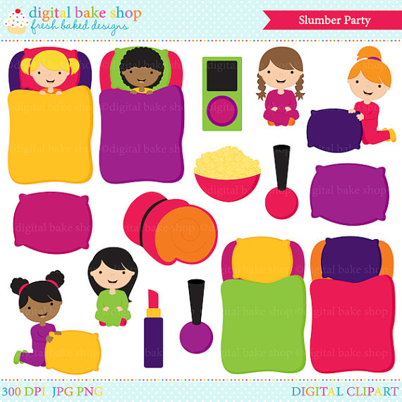 Slumber Party Clipart Clip Art Sleep Over Slumber Party Digital Clip
