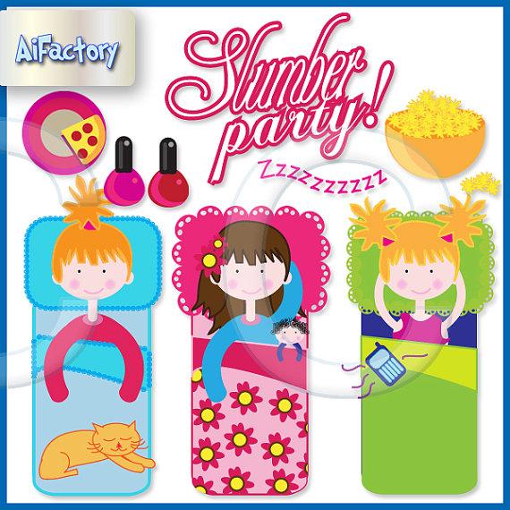 Slumber Party Clipart Girls Slumber Part-Slumber Party Clipart Girls Slumber Party Clip Art Slumber Party-12