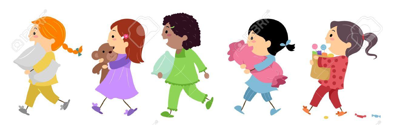 slumber party illustration. Illustration-slumber party illustration. Illustration of Kids Going to .-9