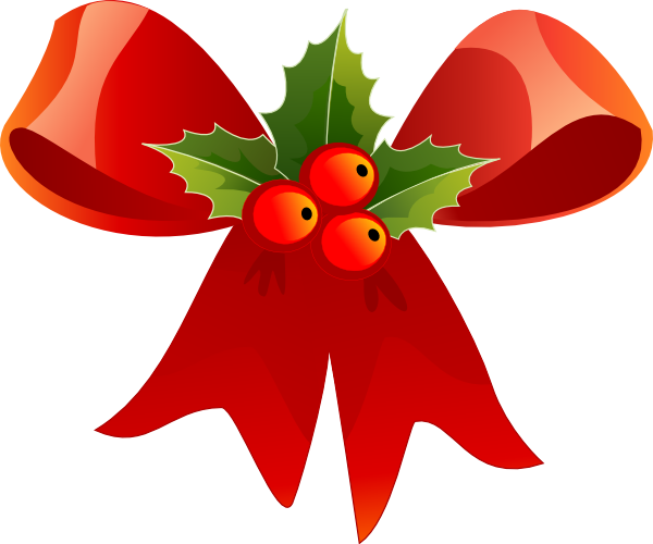 Small christmas holly clip art .