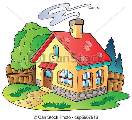... Small family house - vector illustra-... Small family house - vector illustration.-18