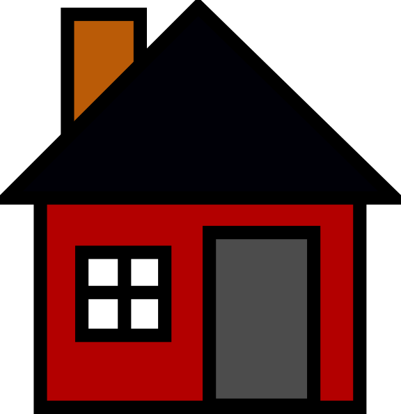 Small House clip art - vector clip art online, royalty free