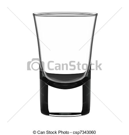 ... Small shot glass - Empty small shot glass isolated on white.