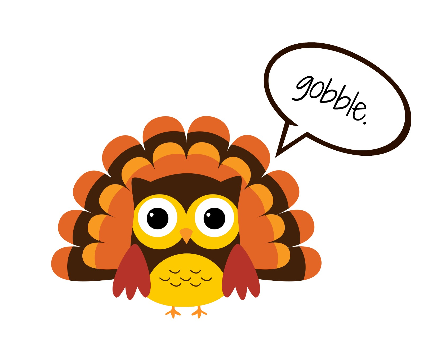 Small turkey clipart