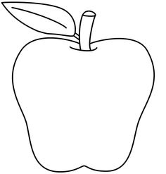 small white apple clipart clipartall school clip art black and
