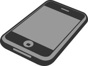 smartphone clipart black and white